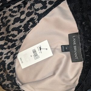 Lane Bryant Dresses - Lane Bryant black lace overlay dress
